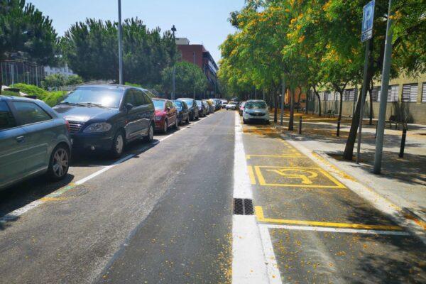 Reurbanización de calle en Barcelona